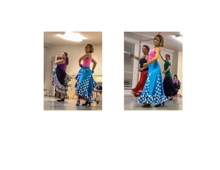 Moving onward and upward with dance (I am in the blue skirt)
