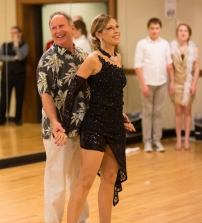 Garry Sweeney and me just before the Rumba routine