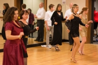 me (short black dress) in salsa routine