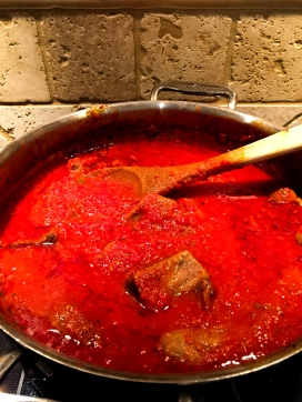 Sauce that's cooked after 3+ hours