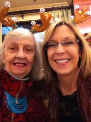 Here we are at the Cityview Christmas Party wearing our reindeer antlers
