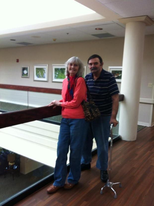 My mom and Bob at the Cityview Care Center